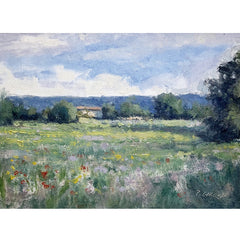 Provence Oil Painting - Campagne vers Peipin
