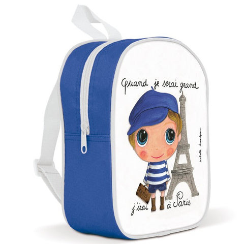 Kids backpack - I will go to Paris