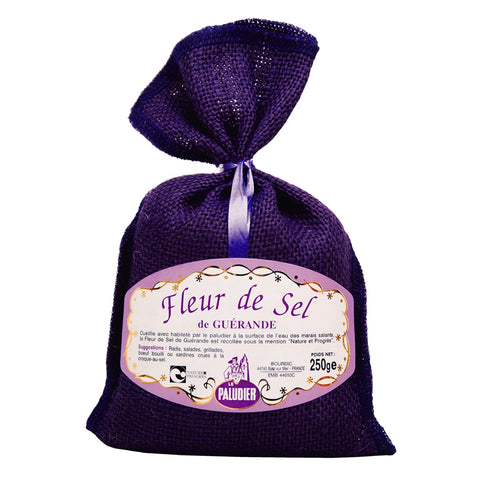 Gourmet Sea Salt - Fleur de Sel de Guerande - Purple Bag