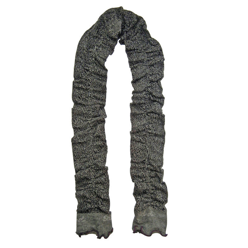 Scarf – Gray Plum Trim by French designer Berthe Aux Grands Pieds