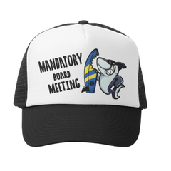 Mandatory Board Meeting Trucker Hat | Avenue Petit Lou