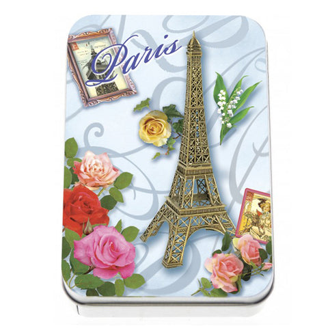 Rose Soap in Eiffel Tower Metal Tin