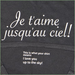 "Kids - NEW! ""Je t'aime"" T-shirt with Translation Inside!"
