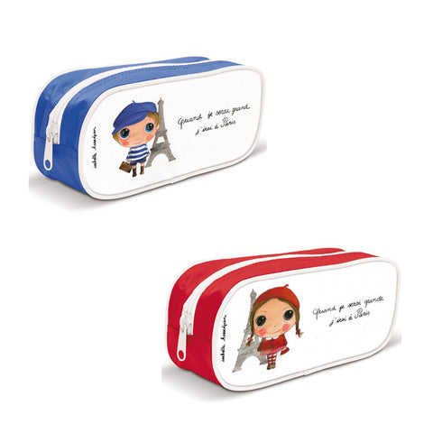 Kids Pencil Case or Pouch - I will go to Paris