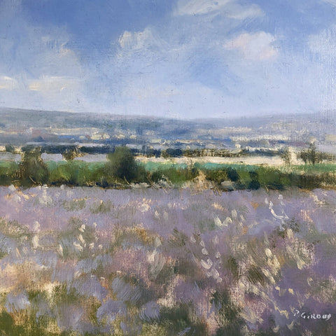 Provence Oil Painting - Lavandes vers Valensole