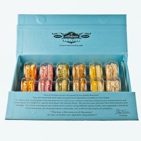 Blue Box 12 count French Macarons - Classic Collection