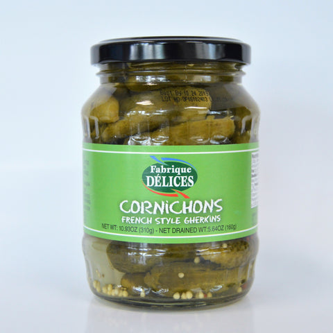 Cornichons in an Old-fashioned Glass Jar