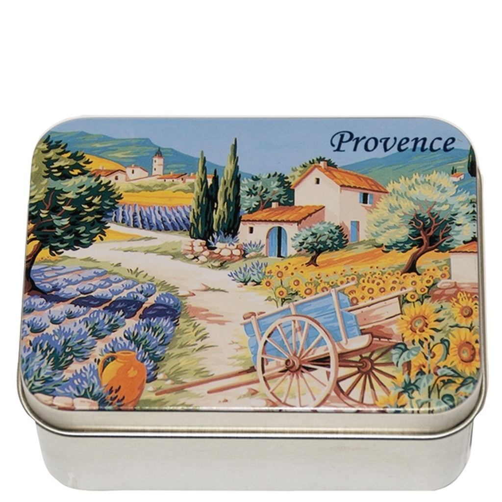 Lavender Soap in Provence Metal Tin
