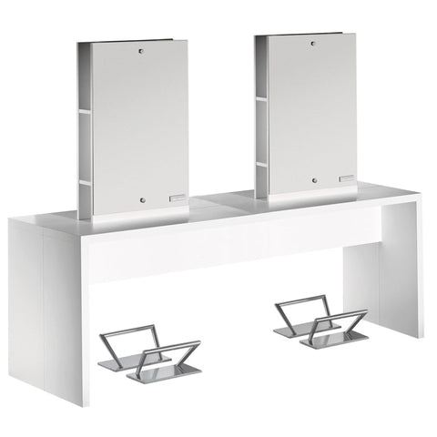 Salon Ambience Flat Island Quad Styling Station