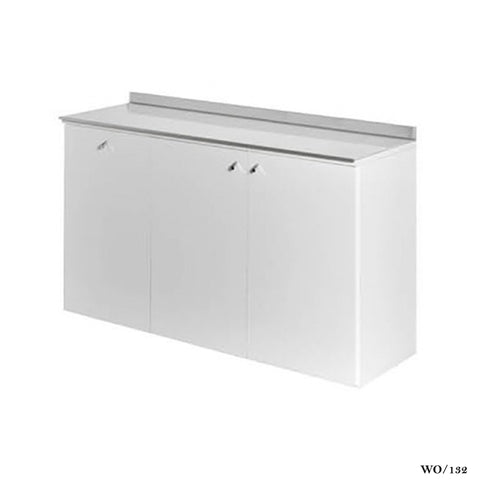 Salon Ambience WO/132 Service Cabinet 120cm glass top-White