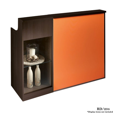 Salon Ambience RD/234 Impact Reception Desk w/Retail Display Cabinet