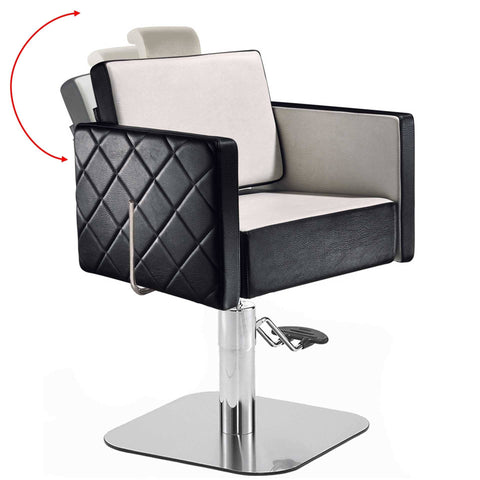 Salon Ambience CH/102 Square Reclining Styling Chair w/Headrest