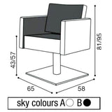 Salon Ambience SH/894 Square Recline Chair w/Headrest