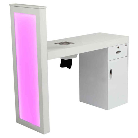 DIR Manicure Table Romantic with Dust Extractor & LED Lighting-3828