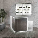 Salon Ambience RD/214 Smart Reception Desk w/Retail Display Cabinet