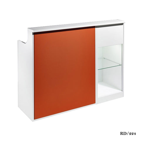 Salon Ambience RD/224 Impact Reception Desk w/Retail Display Cabinet