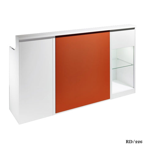 Salon Ambience RD/226 Impact Reception Desk w/Display+Storage Cabinets