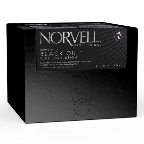 Norvell Competition Black Out Sunless Solution 128 oz EverFresh Box