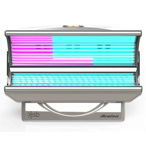 ESB Avalon 16 Tanning Bed Front View Silver