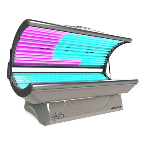 ESB Avalon 20 Tanning Bed Silver Side View