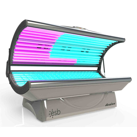 ESB Avalon 28 Tanning Bed Front Side View