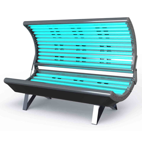 ESB Galaxy 22 Tanning Bed Black Corner View