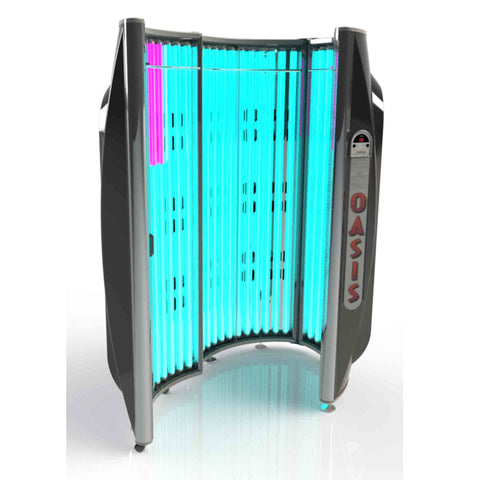 ESB Oasis 36 Tanning Booth (120v) Open View - FREE SHIPPING Today!