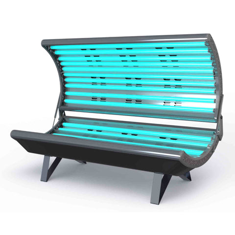 ESB Galaxy 18 Tanning Bed Black Front View