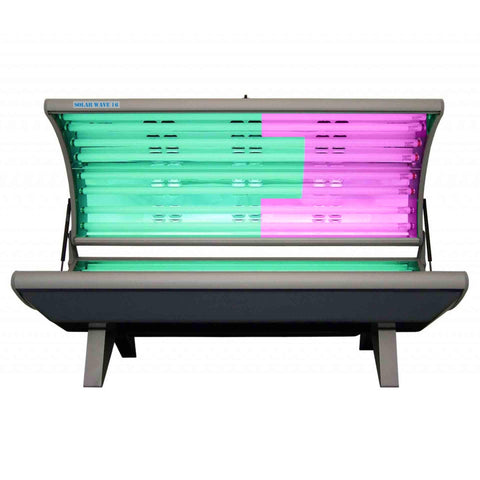 Solar Wave 16RE 110v Tanning Bed with Arm and Facial Tanner