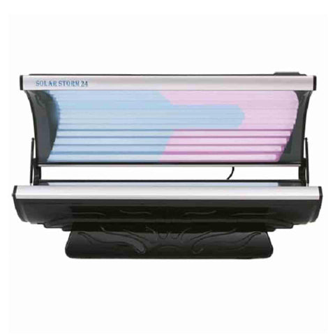 Solar Storm 24R Residential Tanning Bed With Face Tanning Lamps (220v)    Black