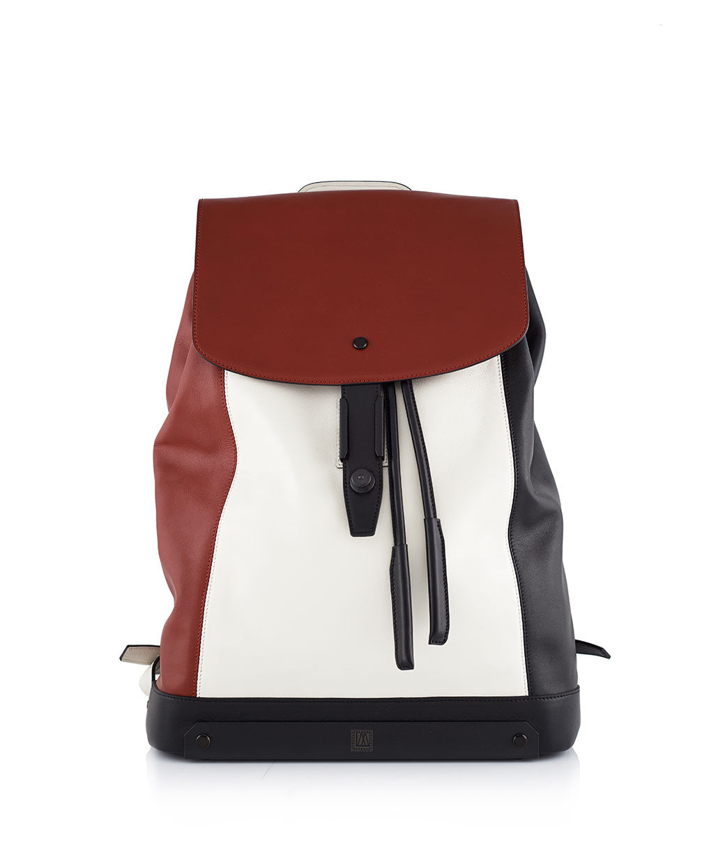 Moser Black, Red & White Rucksack