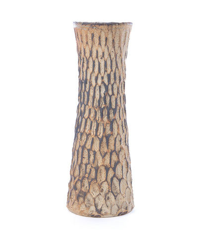 Orange & White Urshi-e Textured Vase