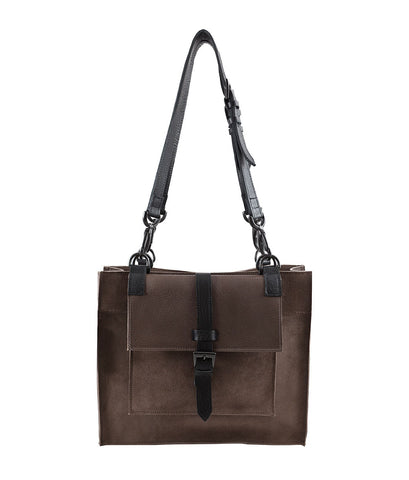 Berkeley Medium Taupe Ox Suede Satchel