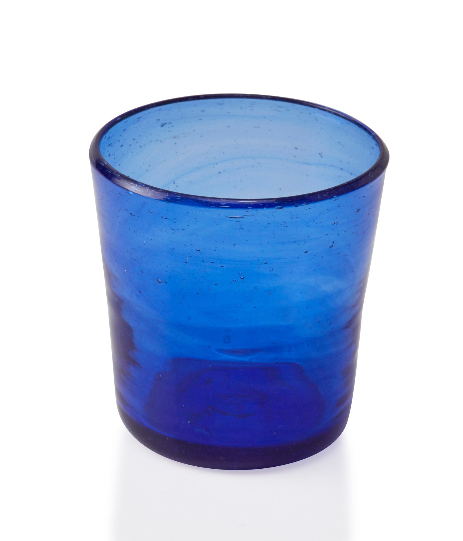 Glassblown Blue Glass Cup
