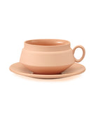 Ceramic Terracotta Orange Cup & Saucer