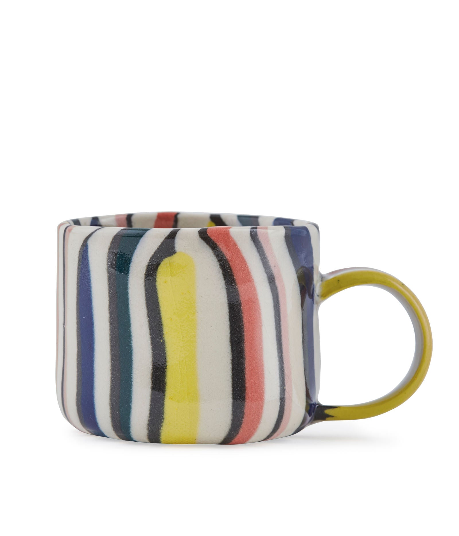 Striped Nerikomi Porcelain Cup