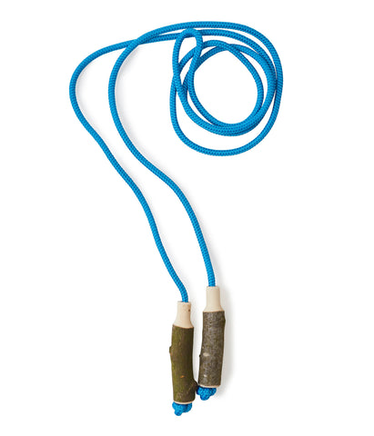 Blue Cotton Skipping Rope & Wooden Handles