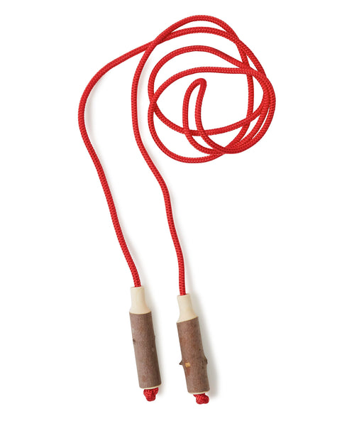 Red Cotton Skipping Rope & Wooden Handles