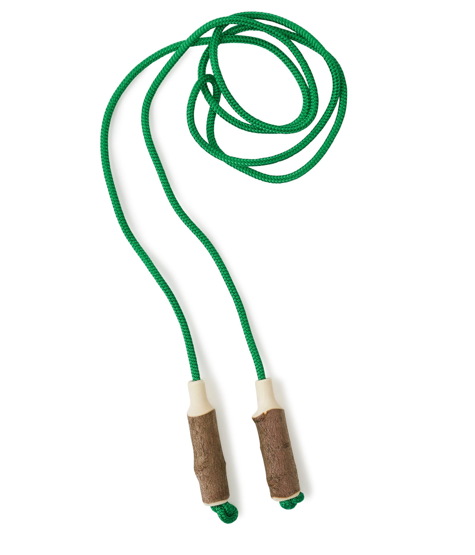 Green Cotton Skipping Rope & Wooden Handles