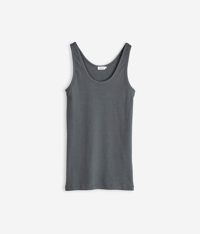 Cotton Rib Tank Rock