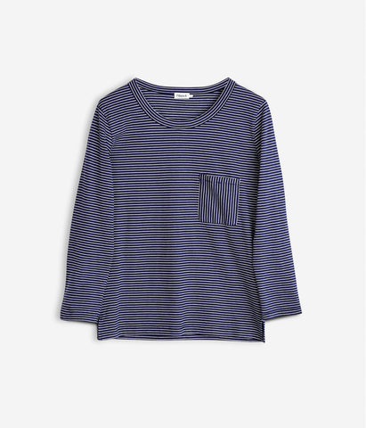Cotton Stripe Top Navajo/Bright Navy