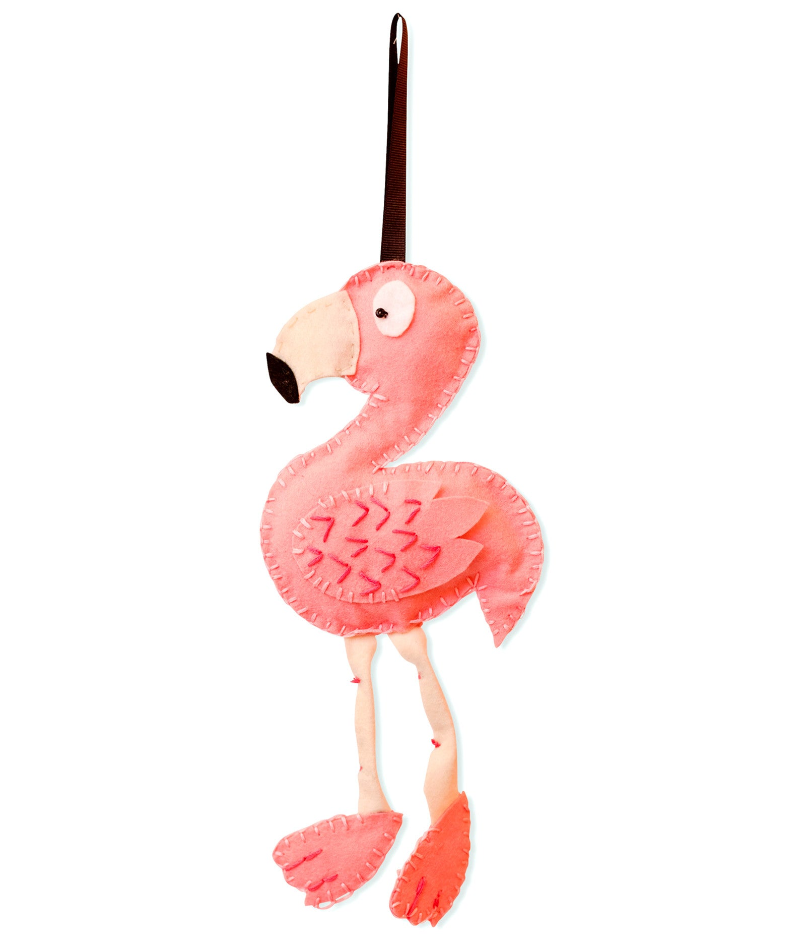 Flamingo Felt Christmas Decoration