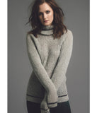 Lightweight Rollneck Grey Melange Jumper 'Erin'