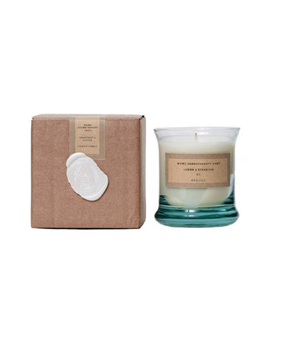 Essential Oil Aromatherapy Lemon & Geranium Candle, 'The Bright'