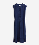 High Low Shirt Dress Bright Navy