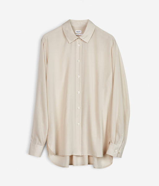 High-low Tencil Shirt Chiffon