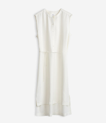 High Low Shirt Dress Off-White