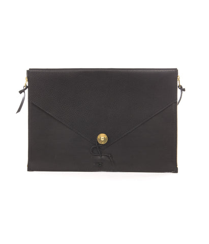 "P.A.P Leather Laptop Cover 13"" Black"