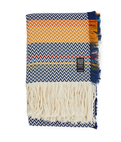 Bunad 'Norland' Orange & Blue blanket