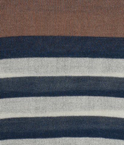Colour Block Stripe Silk Jumper 'Elia'